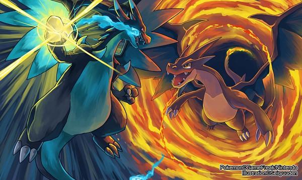 Tags: Anime, Seiryuuden, Pokémon, Charizard, Fanart From DeviantART, Fanart, PNG Conversion, Mega Form (Pokémon), deviantART