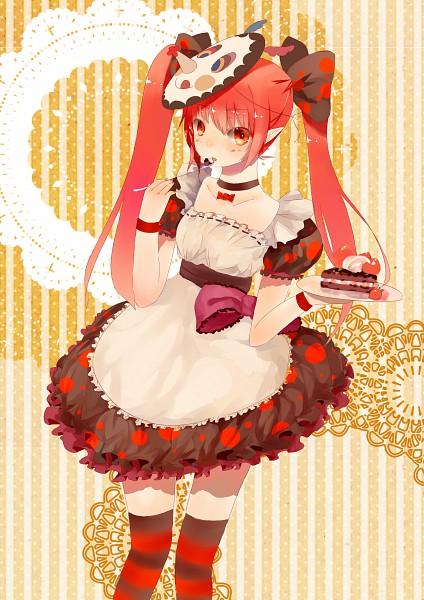 Tags: Anime, Zeizei, Mahou Shoujo Madoka☆Magica, Charlotte (Madoka Magica), Mobile Wallpaper