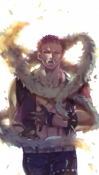Tags: Anime, Pixiv Id 10415657, ONE PIECE, Charlotte Katakuri, Spiked Bracelet, Hand on Stomach, Fanart, Fanart From Pixiv, One Piece: Two Years Later, Pixiv