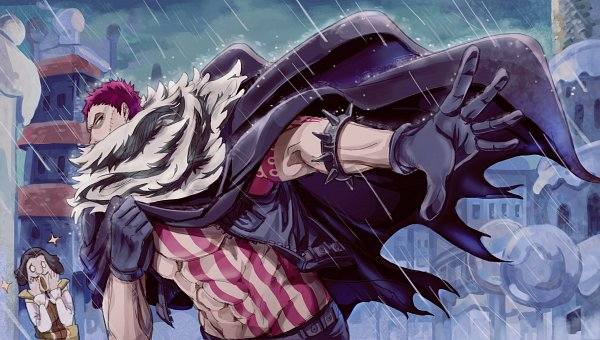 Tags: Anime, Living (songtalk33), ONE PIECE, Charlotte Katakuri, Spiked Bracelet, Floating Cape, Fanart, Fanart From Pixiv, Pixiv