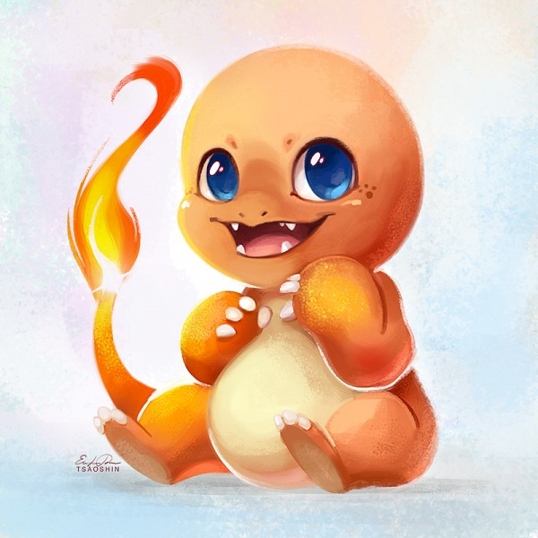 Tags: Anime, TsaoShin, Pokémon, Charmander, deviantART, Revision, Fanart From DeviantART, Fanart, PNG Conversion