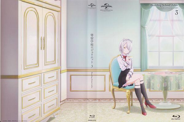 Tags: Anime, Morimoto Yuuki, LIDEN FILMS, Kishuku Gakkou no Juliette, Chartreux Westia, Official Art, Scan, DVD (Source)