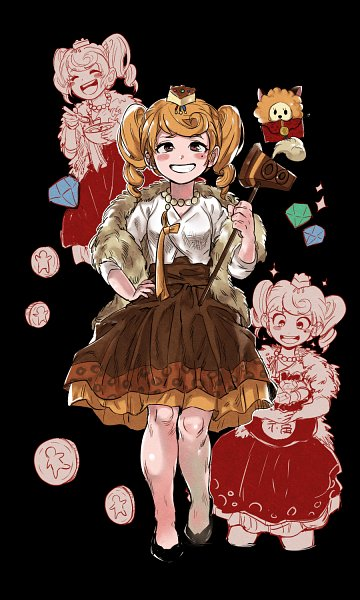 Tags: Anime, ricefather, Cookie Run, Fluffy Cheese Cat, Cheesecake Cookie, Coin, Brown Skirt, Fanart From Pixiv, Pixiv, Fanart