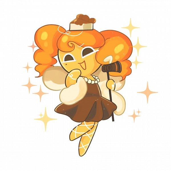 Tags: Anime, Tkrhdtk9874, Cookie Run, Cheesecake Cookie, Brown Dress, Fanart, Twitter
