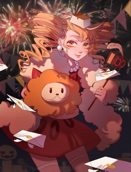 Tags: Anime, Zheilishixiaoyu, Cookie Run, Cheesecake Cookie, Fluffy Cheese Cat, Brown Dress, Fanart, Lofter