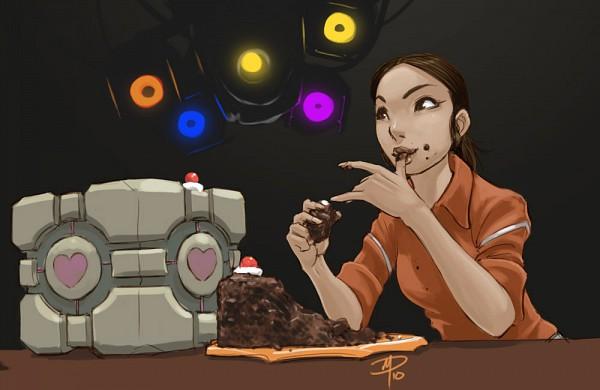Tags: Anime, Polarityplus, Portal (Game), Chell, Portal Cake, Companion Cube, deviantART