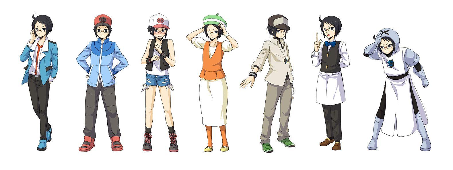 Tags: Anime, Ayasaki Sakura, Pokémon, Cheren (Pokémon), N (Pokémon) (Cosplay), Bel (Pokémon) (Cosplay), Touya (Pokémon) (Cosplay), Touko (Pokémon) (Cosplay), Fanart, Pixiv