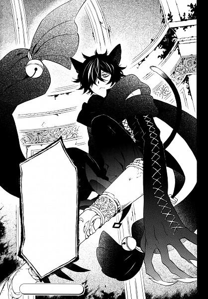 Tags: Anime, Mochizuki Jun, Pandora Hearts, Cheshire Cat (Pandora Hearts), Manga Page, Mobile Wallpaper, Scan