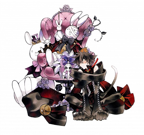 Tags: Anime, Mochizuki Jun, Pandora Hearts, Pandora Hearts ~Odds And Ends~, Cheshire Cat (Pandora Hearts), Will of the Abyss, Official Art, Scan