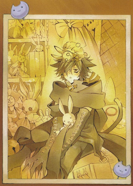 Tags: Anime, Mochizuki Jun, Pandora Hearts, Cheshire Cat (Pandora Hearts), Official Art, Mobile Wallpaper, Index Page, Scan