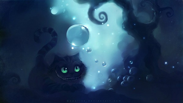 Tags: Anime, Apofiss, Alice in Wonderland, Cheshire Cat, Facebook Cover, deviantART