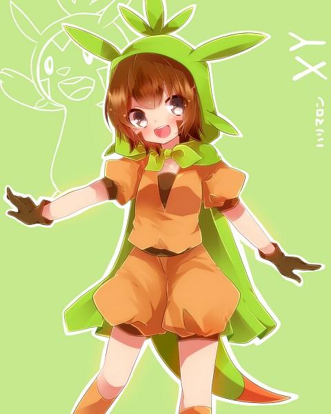 Tags: Anime, Takeshima (nia), Pokémon, Chespin, Green Hoodie, Fanart