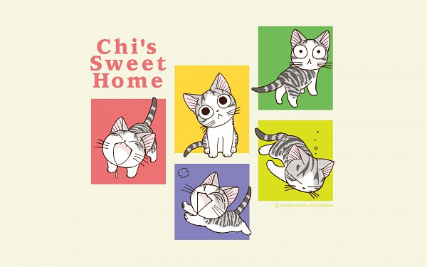 Tags: Anime, Konami Kanata, Chi's Sweet Home, Yamada chi, 1680x1050 Wallpaper, Wallpaper, Official Art