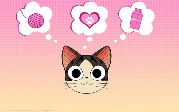 Tags: Anime, Chi's Sweet Home, Yamada chi, Thinking