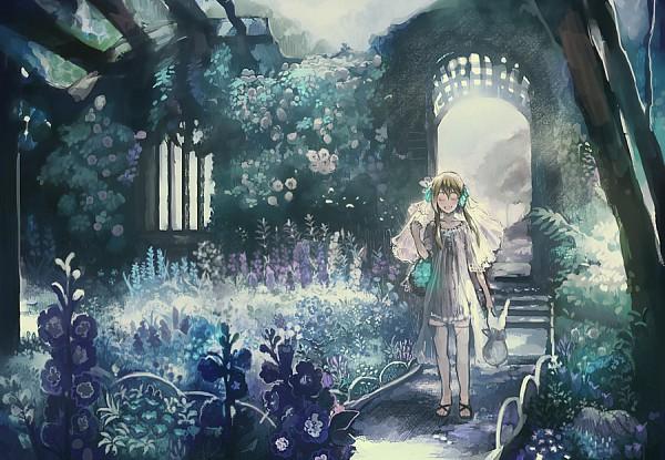 Tags: Anime, Chibi (Shimon), Garden, Archway, Pixiv, Original