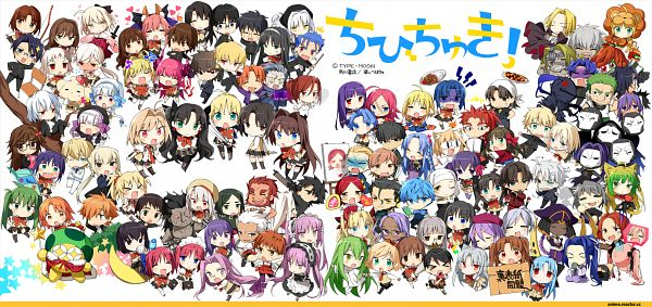 Tags: Anime, Chibichuki!, Emiya Kiritsugu, Kayneth Archibald El-Melloi, Neco-Arc Chaos, Saber (Gawain), Saber (Fate/stay night), Makidera Kaede, Lancer (Fate/EXTRA CCC), Illyasviel von Einzbern, Neco-Arc, Bedivere (Fate/stay night), Matou Kariya