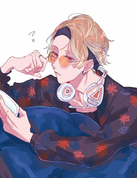 Tags: Anime, Pixiv Id 4714636, A3!, Chigasaki Itaru, Holding Phone, Pixiv, Fanart, Fanart From Pixiv