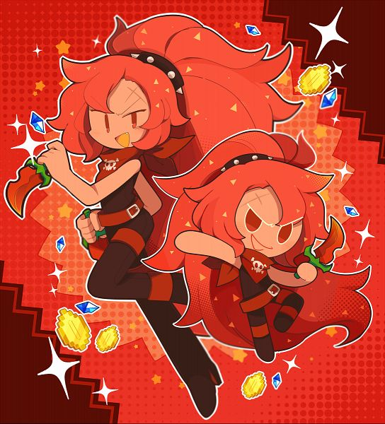 Tags: Anime, Pixiv Id 18560303, Cookie Run: OvenBreak, Cookie Run, Chili Pepper Cookie, Money, Thief, Coin, Pixiv, Fanart From Pixiv, Fanart