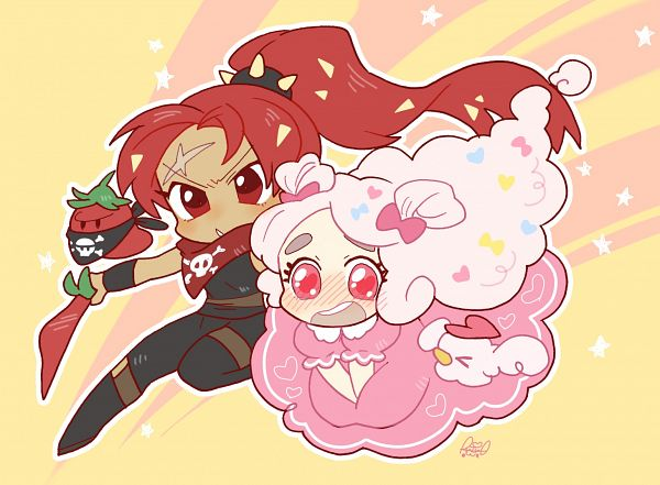 Tags: Anime, Shir0, Cookie Run: OvenBreak, Cookie Run, Cotton Candy Bird, Cotton Candy Cookie, Bad Pepper, Chili Pepper Cookie, Thief, Pixiv, Fanart, Fanart From Pixiv, ChiliCotton
