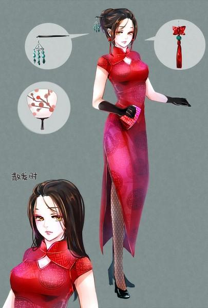 Tags: Anime, Pixiv Id 675387, Axis Powers: Hetalia, China (Female), Fanart, Fanart From Pixiv, Nyotalia, Mobile Wallpaper, Pixiv