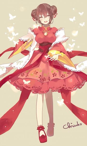 Tags: Anime, Chizuko, Axis Powers: Hetalia, China (Female), Fanart, Fanart From Pixiv, Nyotalia, Mobile Wallpaper, Pixiv