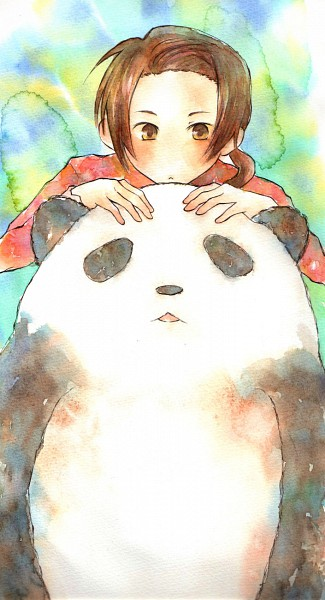 Tags: Anime, Pixiv Id 1015859, Axis Powers: Hetalia, China, No Nose, Pixiv, Mobile Wallpaper, Watercolor, Fanart, Traditional Media