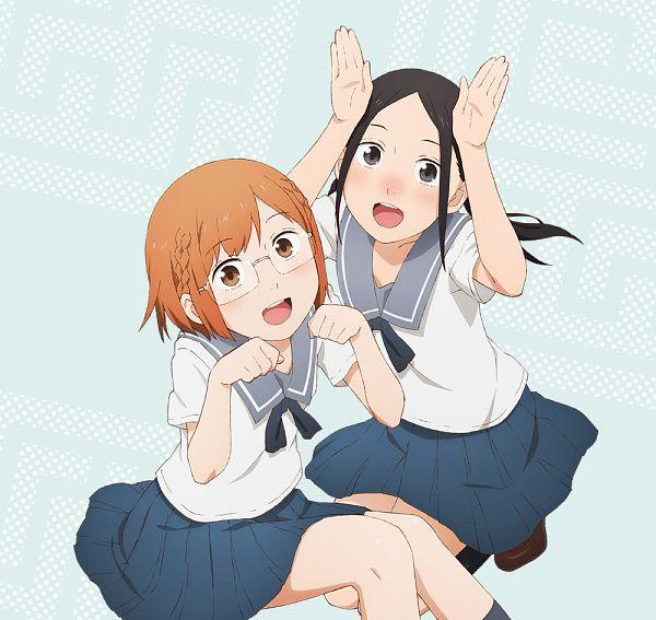 Tags: Anime, Matsumoto Mayuko, Diomedéa, Chio-chan no Tsuugakuro, Miyamo Chio, Nonomura Manana, Official Art, Cover Image, Key Visual