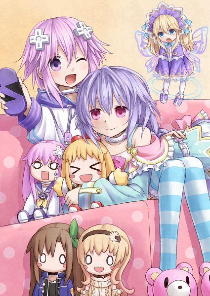 Tags: Anime, Yuyuzuki (Yume Usagi), IDEA FACTORY, Compile Heart, Nippon Ichi Software, Choujigen Game Neptune, Compa (Choujigen Game Neptune), Nepgear (Choujigen Game Neptune), Histoire (Choujigen Game Neptune), Neptune (Choujigen Game Neptune), Peashy (Choujigen Game Neptune), IF (Choujigen Game Neptune), Pururut (Choujigen Game Neptune), Hyperdimension Neptunia