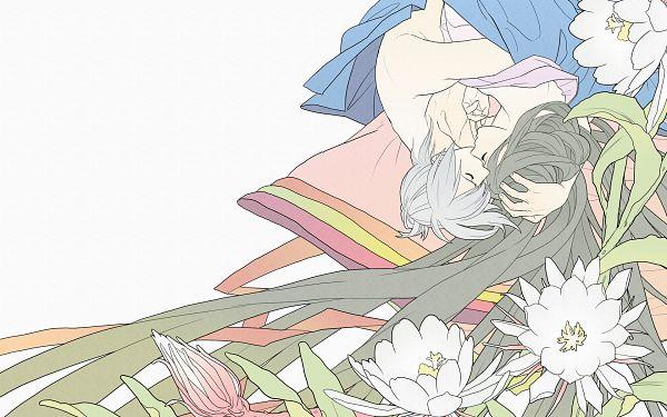 Tags: Anime, TYO Animations, Chouyaku Hyakuninisshu: Uta Koi., Minamoto no Yasumitsu no Musume, Fujiwara no Yoshitaka, Junihitoe, Official Art, Wallpaper