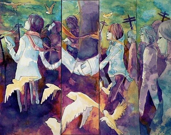 Tags: Anime, Chowpan, Watercolor, deviantART, Traditional Media, Original