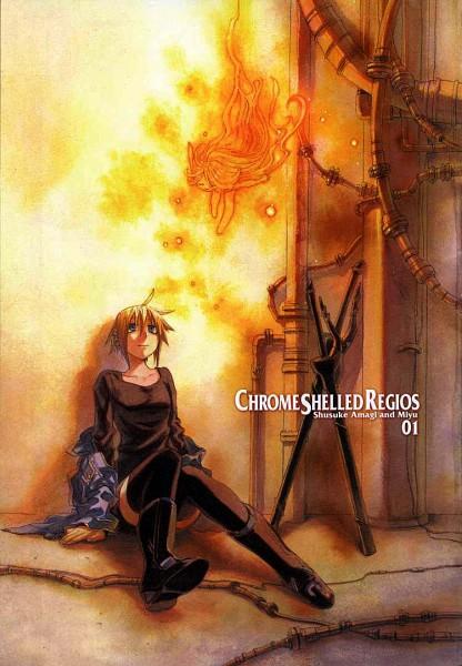Tags: Anime, Chrome Shelled Regios, Nina Antalk, Manga Cover, Scan, Official Art
