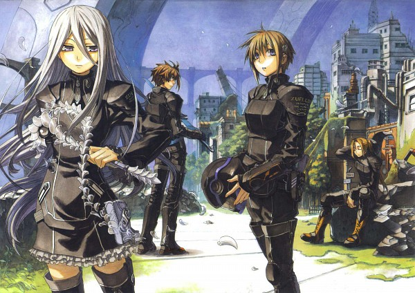 Tags: Anime, Miyuu / 未柚, Chrome Shelled Regios, Leifon Alseif, Nina Antalk, Felli, Sharnid Elipton