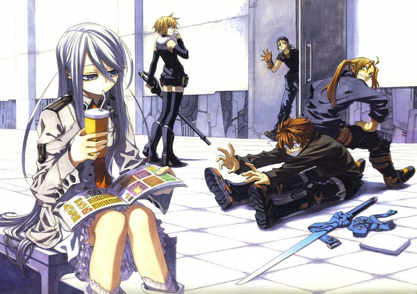 Tags: Anime, Chrome Shelled Regios, Felli, Sharnid Elipton, Leifon Alseif, Nina Antalk, Camisole