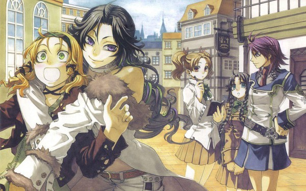Tags: Anime, Chrome Shelled Regios, Alsheyra Almonise, Leerin Marfes, Naruki Gelni, Mifi Rotten, Mayshen Torinden, Wallpaper