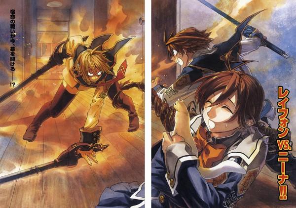 Tags: Anime, Miyuu, Chrome Shelled Regios, Leifon Alseif, Nina Antalk