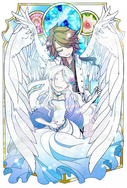 Tags: Anime, Makimaki, Lucius (Sound Horizon), Illia, Hand on Stomach, Pixiv, Fanart, Fanart From Pixiv, Chronicle 2nd, Sound Horizon