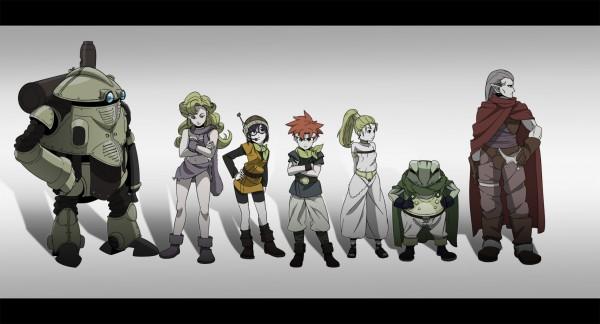 Tags: Anime, Pixiv Id 101197, SQUARE ENIX, Chrono Trigger, Robo, Marle, Lucca Ashtear, Ayla, Magus, Crono, Kaeru, Koukaku Kidoutai GHOST IN THE SHELL (Parody)