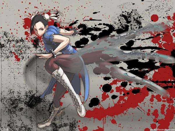 Tags: Anime, Tea (Nakenashi Wisdom), Street Fighter, Chun-Li, Spiked Bracelet, Brown Legwear, Wallpaper