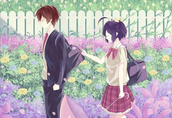 Tags: Anime, ehl, Chuunibyo Demo Koi ga Shitai!, Togashi Yuuta, Takanashi Rikka, Love Chunibyo & Other Delusions!