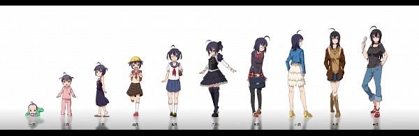 Tags: Anime, Stoner (artist), Chuunibyo Demo Koi ga Shitai!, Takanashi Touka, Takanashi Rikka, Age Progression, Fanart From Pixiv, Twitter Header, Pixiv, Fanart, Love Chunibyo & Other Delusions!