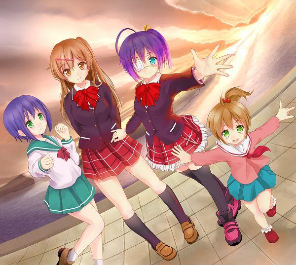 Tags: Anime, Miyabi (Miyabi), Chuunibyo Demo Koi ga Shitai!, Togashi Kuzuha, Togashi Yumeha, Nibutani Shinka, Takanashi Rikka, Fanart From Pixiv, Pixiv, Fanart, Love Chunibyo & Other Delusions!
