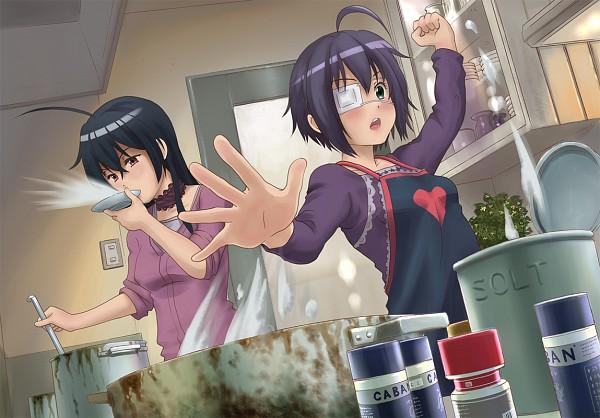 Tags: Anime, Pixiv Id 162899, Chuunibyo Demo Koi ga Shitai!, Takanashi Touka, Takanashi Rikka, Cooking Pot, Kitchen, Pixiv, Fanart, Fanart From Pixiv, Love Chunibyo & Other Delusions!