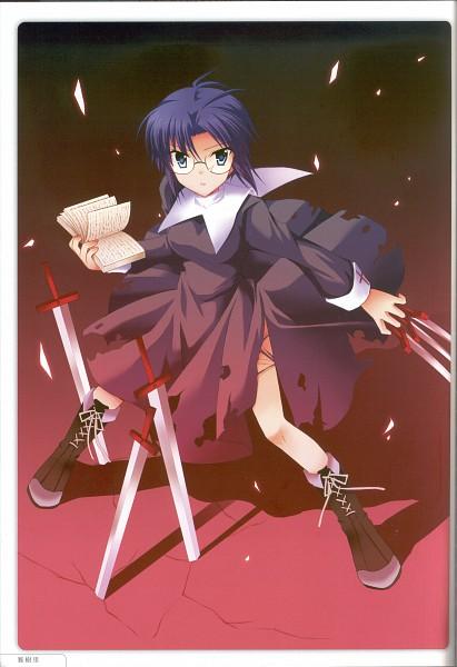 Tags: Anime, TYPE-MOON, Shingettan Tsukihime Illustration Anthology CLAIR de LUNE, Tsukihime, Ciel (Tsukihime)