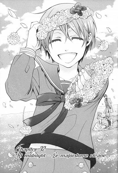 Tags: Anime, Toboso Yana, Kuroshitsuji, Ciel Phantomhive, Rachel Phantomhive, Vincent Phantomhive, Chapter Cover, Official Art, Manga Page, Scan, Mobile Wallpaper
