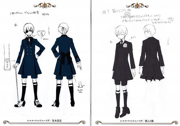 Tags: Anime, Toboso Yana, SQUARE ENIX, Kuroshitsuji, Ciel Phantomhive, Character Sheet, Scan, Official Art