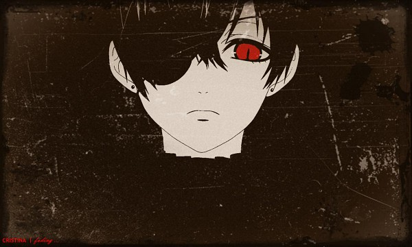 Tags: Anime, SQUARE ENIX, Kuroshitsuji, Ciel Phantomhive (Demon), Ciel Phantomhive, Demon Eye, Glaring, Wallpaper, Edited, Fanmade Wallpaper