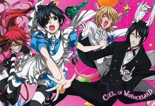Tags: Anime, Toboso Yana, Harada Hiroki, SQUARE ENIX, Kuroshitsuji, Alice in Wonderland, Ciel in Wonderland, Sebastian Michaelis, White Rabbit, Aleister Chamber, Cheshire Cat, Grell Sutcliff, Ciel Phantomhive