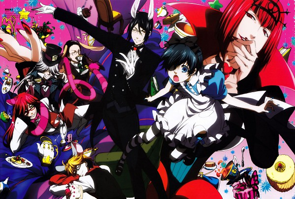 Tags: Anime, Kuroshitsuji, Ciel in Wonderland, William T. Spears, Undertaker, Grell Sutcliff, Ronald Knox, Sebastian Michaelis, Madame Red, Dormouse (Cosplay), Mad Hatter (Cosplay), White Rabbit (Cosplay), March Hare (Cosplay)