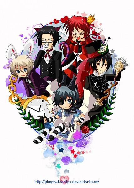 Tags: Anime, SandraGH, Kuroshitsuji, Ciel in Wonderland, Alois Trancy, Grell Sutcliff, Ciel Phantomhive, Sebastian Michaelis, Claude Faustus, Queen of Hearts (Cosplay), Alice (Alice in Wonderland) (Cosplay), Mad Hatter (Cosplay), Cheshire Cat (Cosplay)