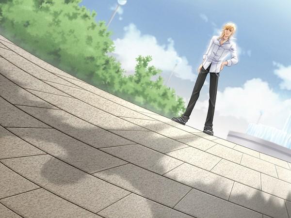 Tags: Anime, Love Drops, Cifer (Love Drops), Fountain, CG Art